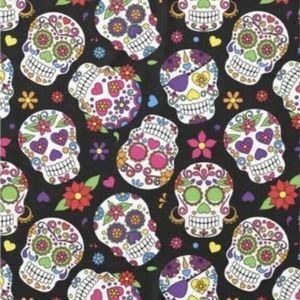 3 Vinyl Tablecloth Lot Sugar Skulls Multi Color
